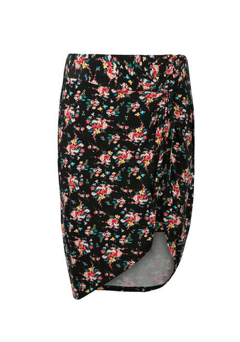 Ladies' Floral Knot Front Skirt, MULTI, hi-res
