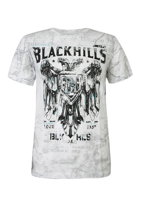 Men's Black Hills Motors Graphic Tee, WHITE, hi-res