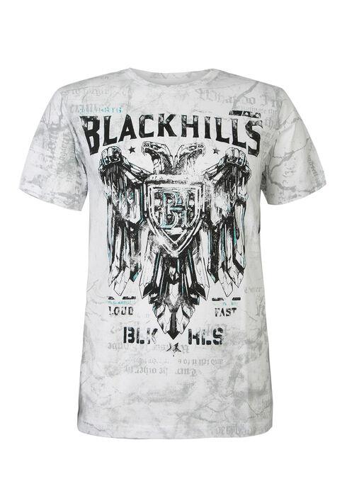 Men's Black Hills Motors Graphic Tee, WHITE, hi-res