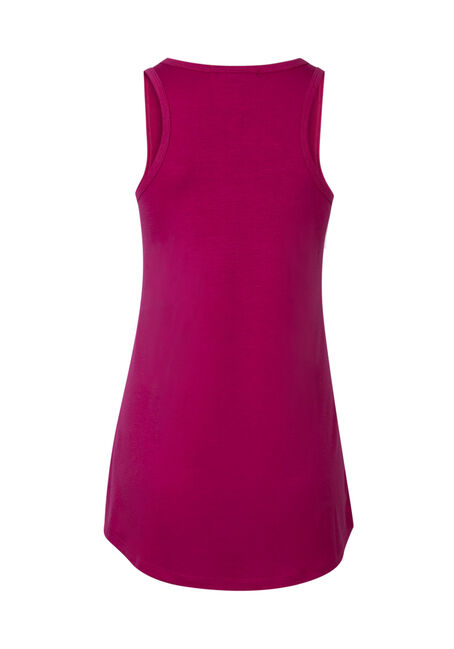 Ladies' Broke Up With Gym Tank, FUCHSIA, hi-res