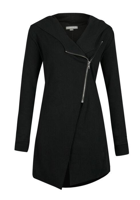Ladies' Fleece Jacket, BLACK, hi-res