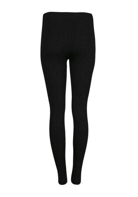 Ladies' Glitter Plush Legging, BLACK, hi-res