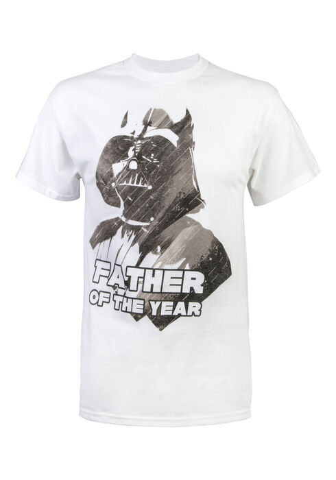 Men's Darth's  Fathers Day Tee, WHITE, hi-res