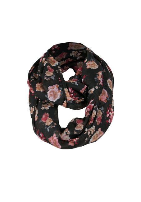 Ladies' Inifinty Scarf, BLACK, hi-res