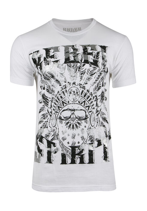Men's Rebel Spirit Tee, WHITE, hi-res