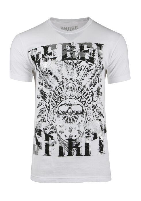 Men's Rebel Spirit Tee, WHITE, hi-res