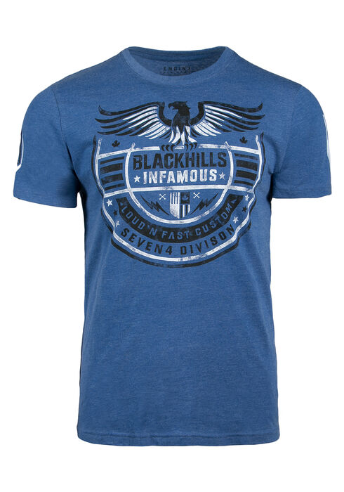 Men's Black Hills Graphic Tee, BLUE, hi-res