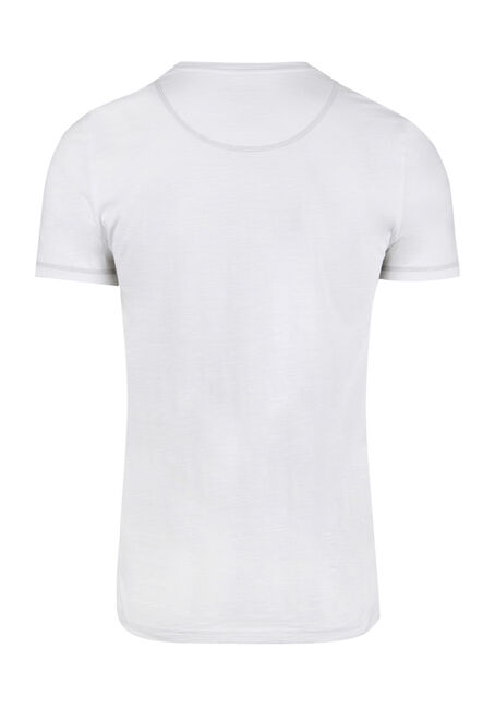 Men's Everyday Henley Tee, WHITE, hi-res