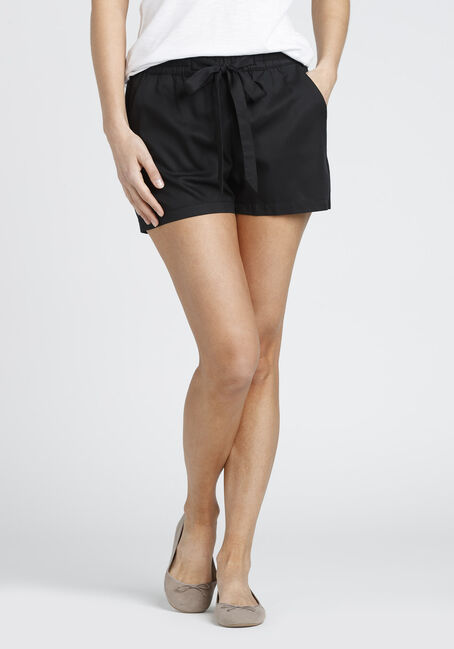 Ladies' tie Front Soft Short