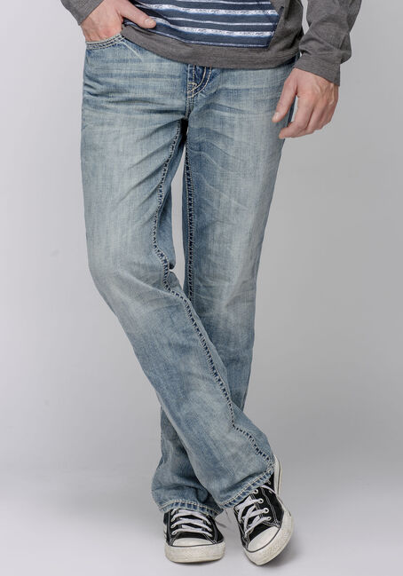 Men's Straight Leg Light Vintage Jeans
