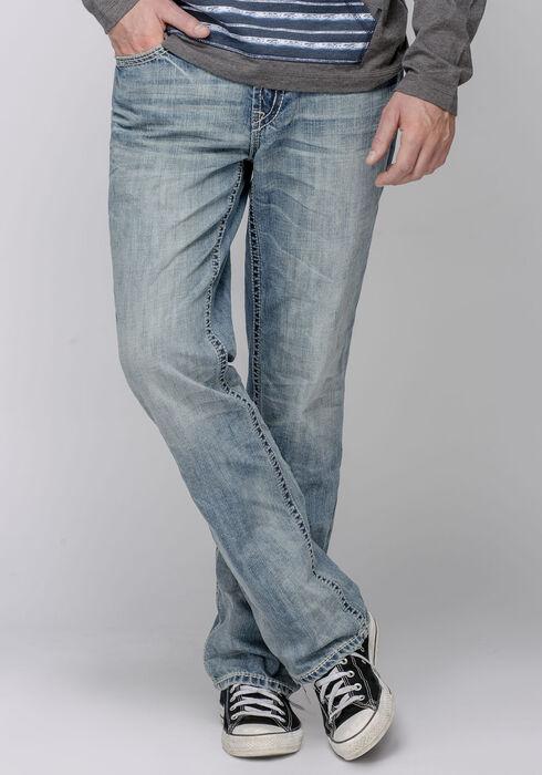 Men's Straight Leg Light Vintage Jeans, LIGHT VINTAGE WASH, hi-res