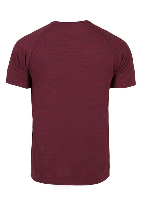 Men's Everyday Henley Tee, RED, hi-res