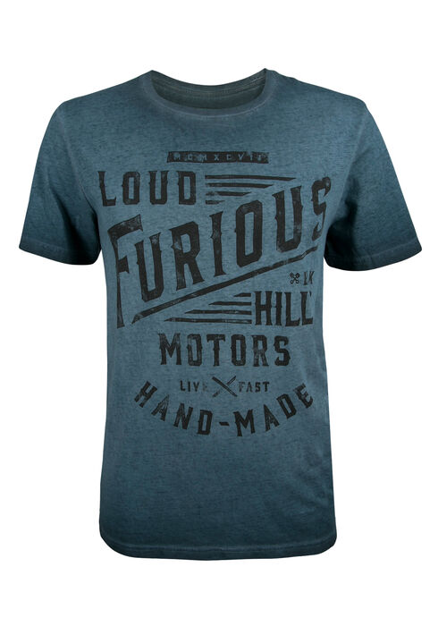 Men's Black Hills Loud & Furious Tee, BLUE, hi-res