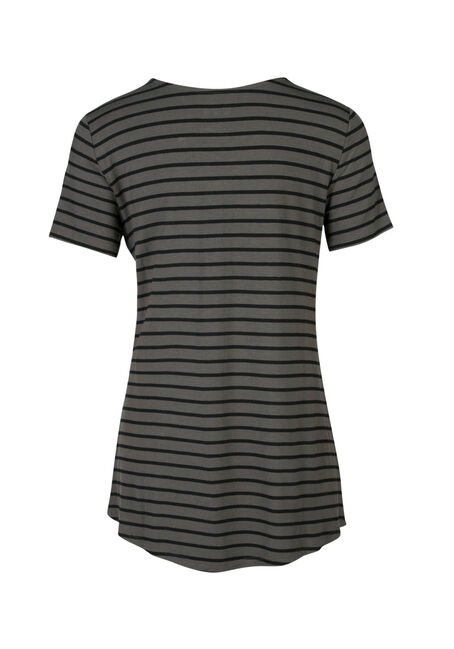 Ladies' Criss Cross Tee, MOSS/BLACK, hi-res