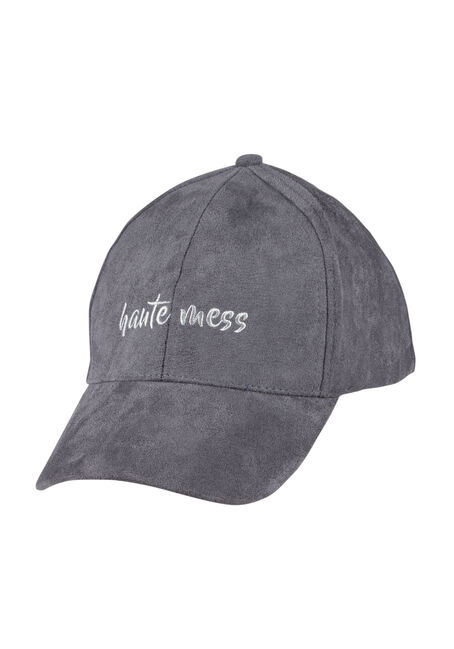 Ladies'  Faux Suede Baseball Hat