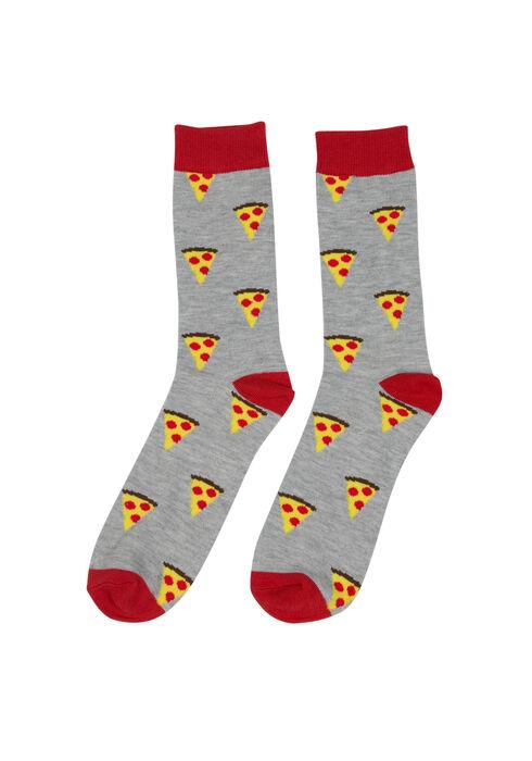Men's Pizza Crew Sock, ORANGE, hi-res