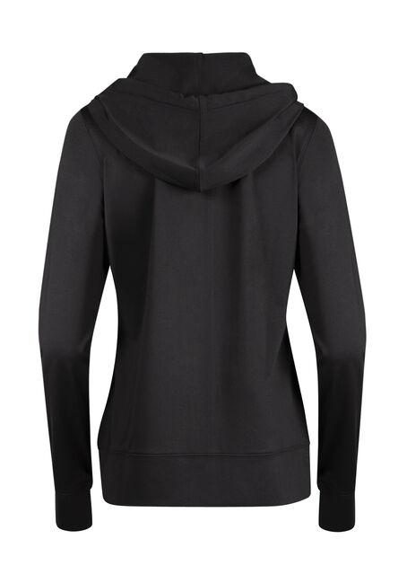 Ladies' Zip Front Hoodie, BLACK, hi-res