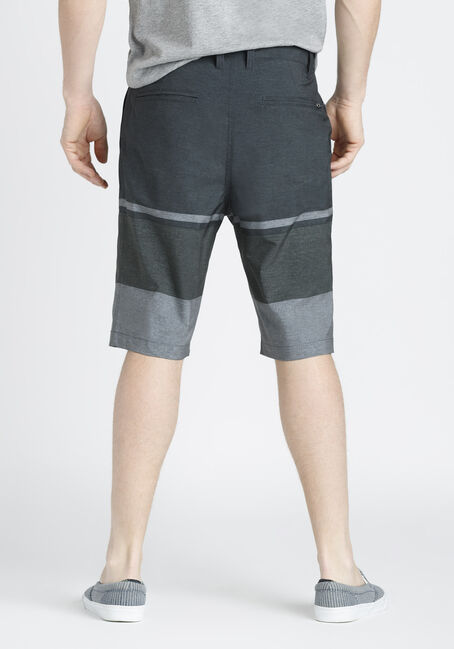 Men's Colour Block Hybrid Shorts, CHARCOAL, hi-res