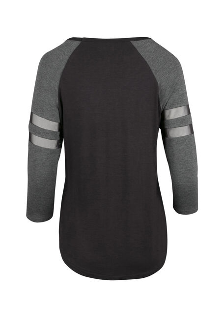 Ladies' Mesh Football Tee, BLACK/CHAR, hi-res