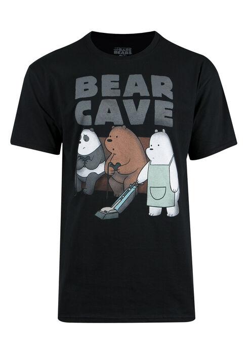 Men's Bear Cave Tee, BLACK, hi-res