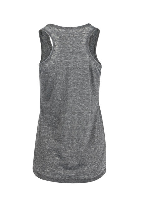 Ladies' Burnout Racerback Tank, BLACK, hi-res