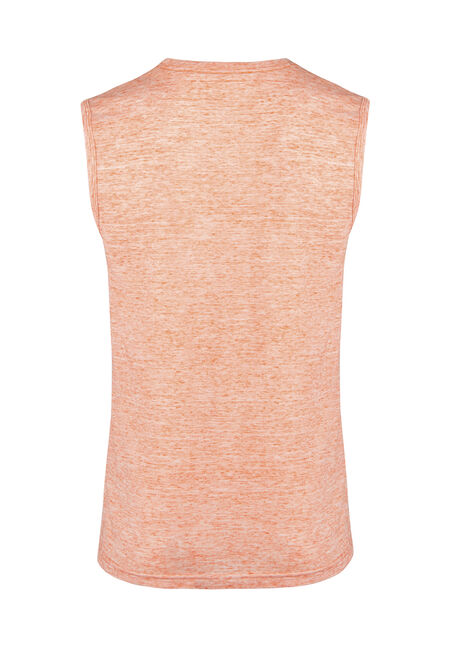 Men's Everyday Space Dye Tank, BRIGHT ORANGE, hi-res