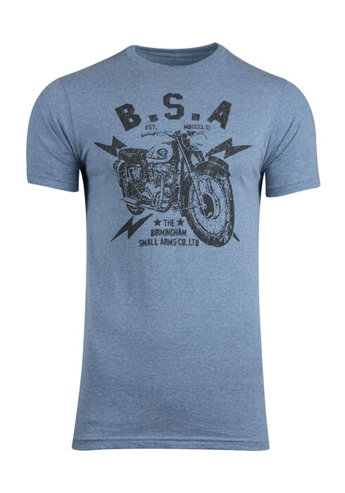 Men's BSA Motorcycle Graphic Tee, VINTAGE ROYAL, hi-res