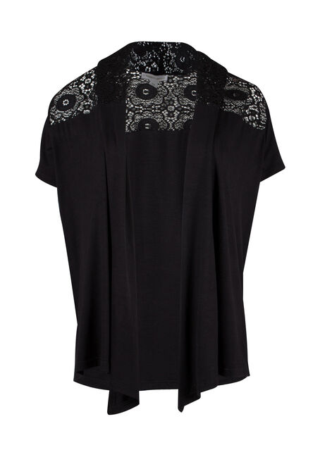 Ladies' Lace Yoke Cardigan
