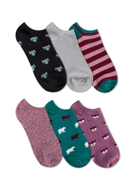 Ladies' 6 Pair Woodland Animal Socks
