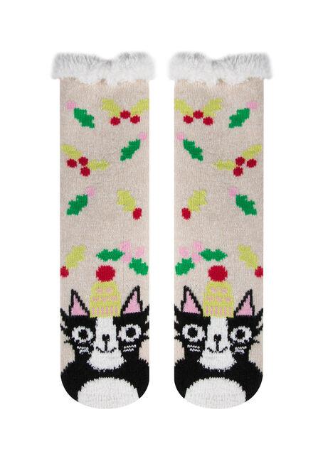Ladies'  Cat Slipper Socks