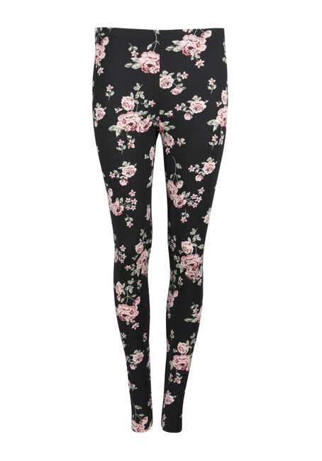 Ladies' Floral Print Legging