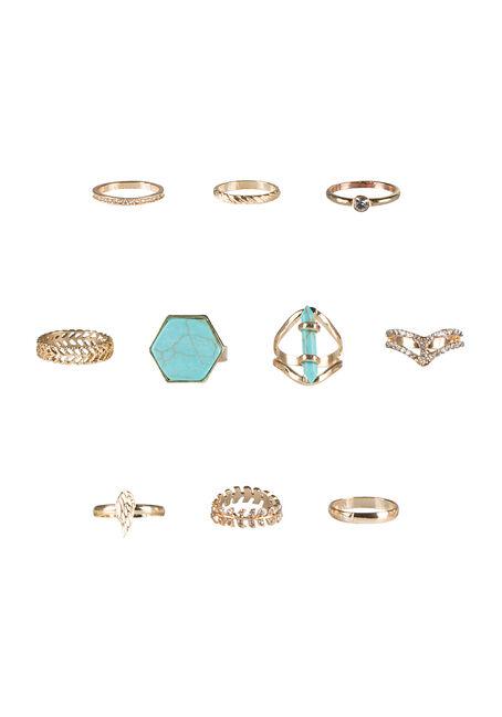 Ladies' 10 Piece Ring Set