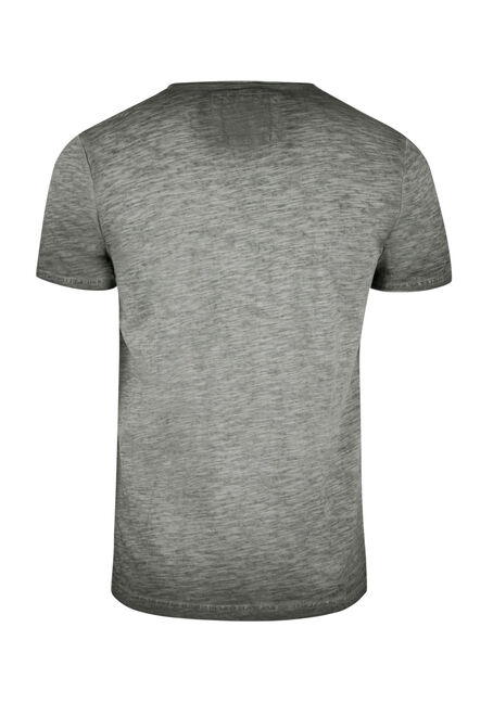 Men's Vintage Split V-neck Tee, DARK OLIVE, hi-res