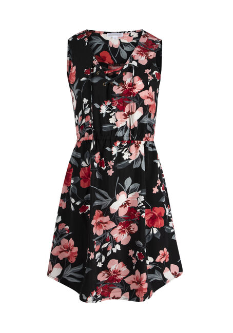 Ladies' Floral Lace Up Dress