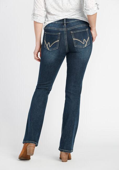 Ladies' High Rise Baby Boot Dark Jeans, DARK VINTAGE WASH, hi-res