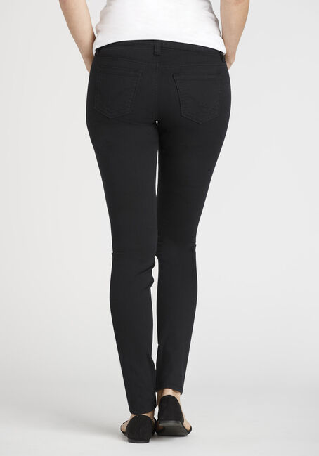Ladies' Colour Last Skinny Jeans, BLACK, hi-res