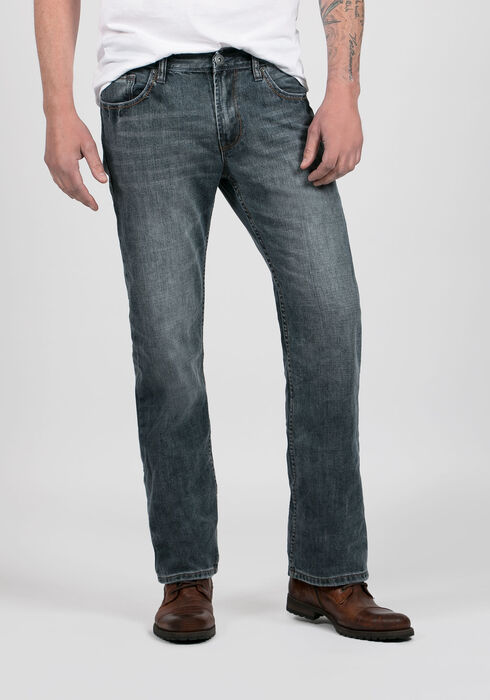 Men's Straight Leg Medium Vintage Jeans, MEDIUM VINTAGE WASH, hi-res