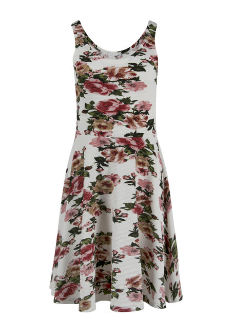 Ladies' Floral Fit & Flair Dress