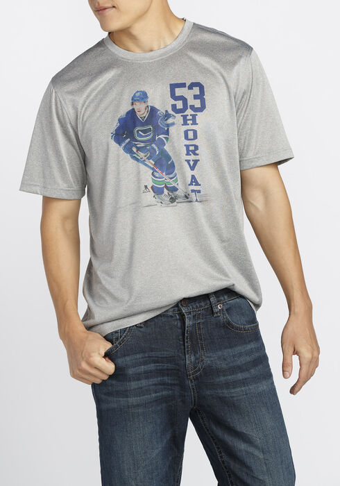 Men's NHL Canucks Tee, Heather Pebble, hi-res