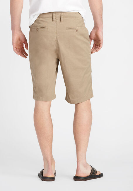 Men's Flat Front Short, KHAKI, hi-res