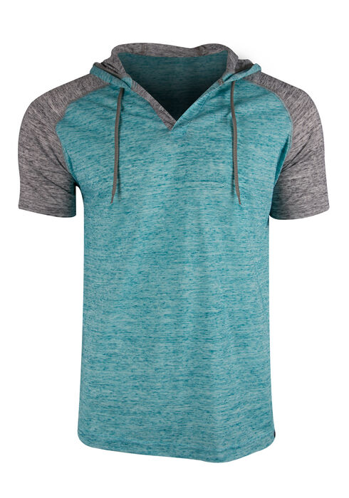 Men's Hooded Raglan Tee, SEA OF GREEN, hi-res