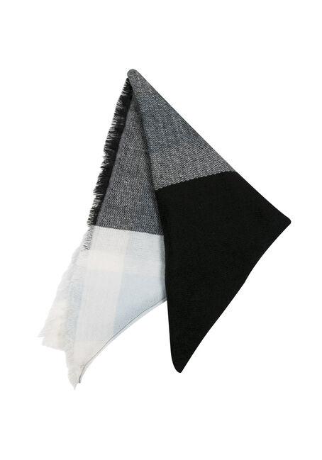 Ladies' Blanket Scarf, BLACK, hi-res