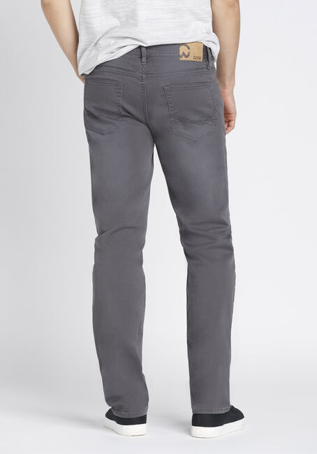 Men's Slim Straight Jeans, GREY, hi-res
