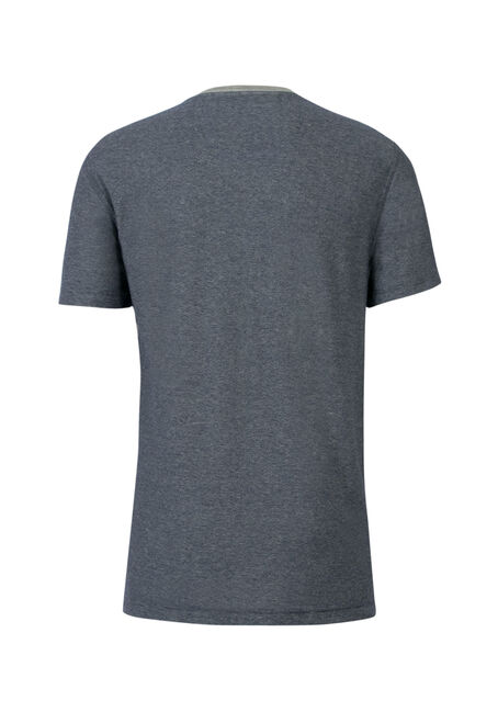 Men's Mini Stripe V-Neck Tee, NAVY, hi-res