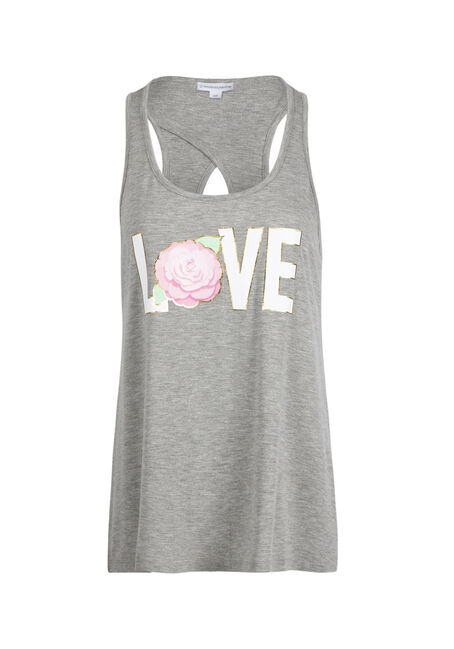 Ladies' Love Flower Keyhole Tank