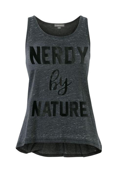 Ladies' Nerdy By Nature Tank, BLACK, hi-res