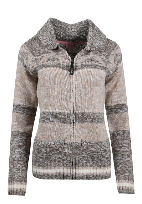 Ladies' Diamond Stripe Nordic Cardigan