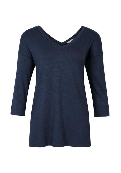 Ladies' Double V-neck Tee, COASTAL  BLUE, hi-res