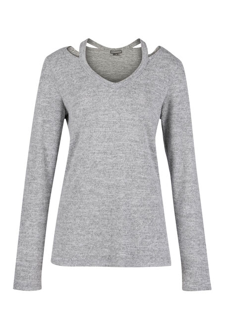 Ladies' Split Neck Top