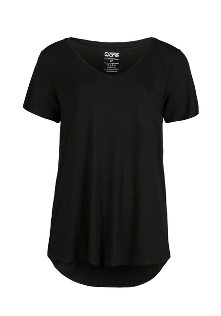 Ladies' Relaxed Tee, BLACK, hi-res